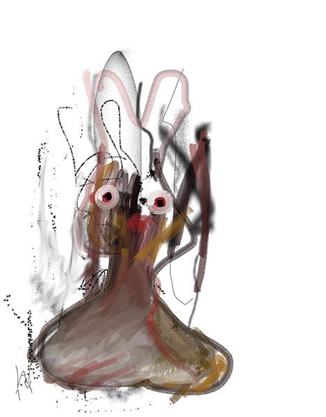 Digitale Malerei mit dem Pad von Axel Wondratschke
