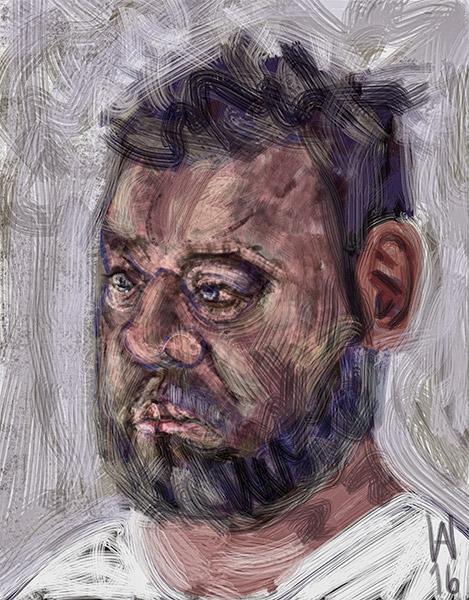 Digitale Malerei Porträt iPad © Axel Wondratschke